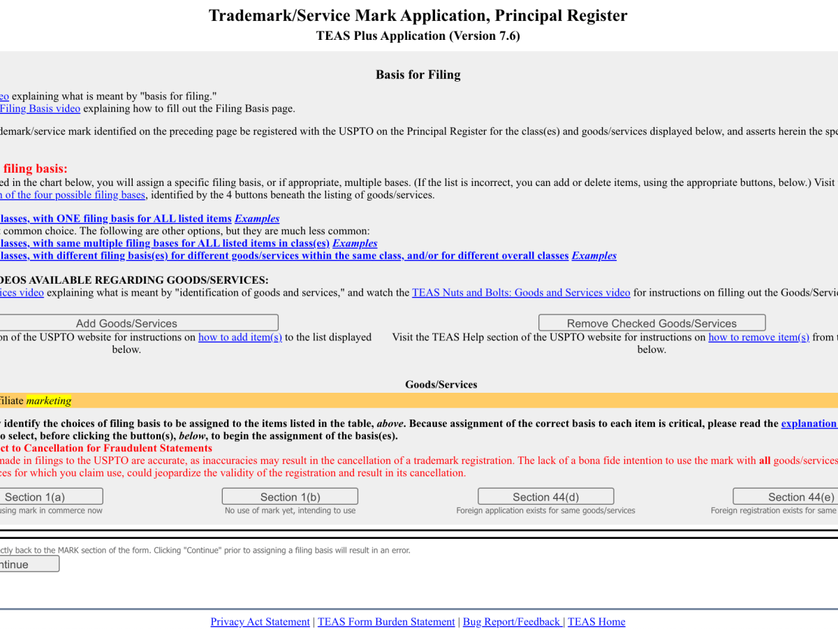 Intent-to-Use-Trademark-Application